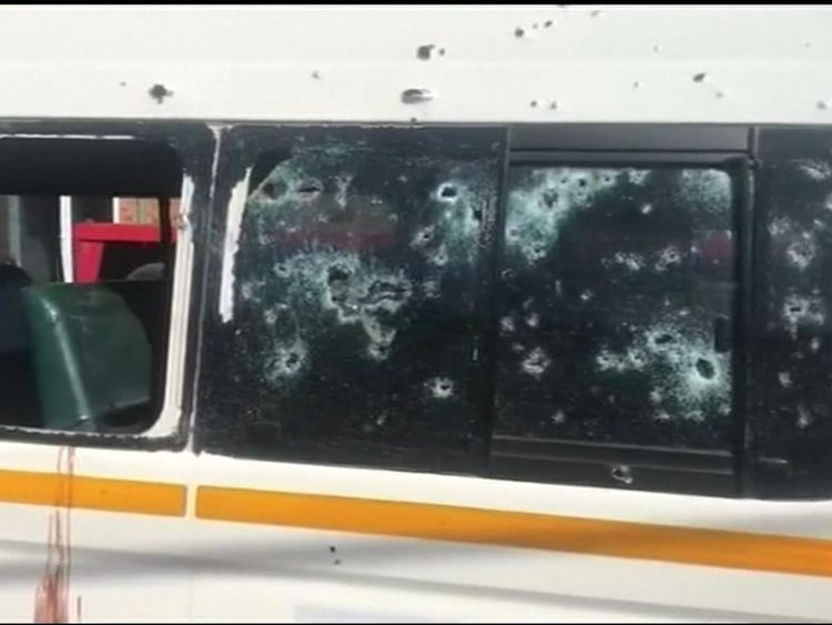 The drivers were members of the Gauteng taxi association