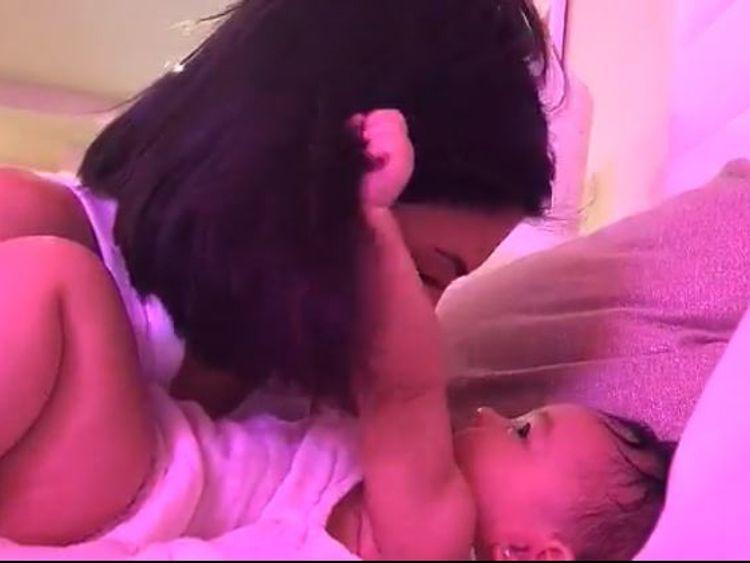 Kylie Jenner reveals baby Stormi's pierced ears