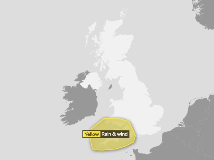 The Met Office weather warnings in place on Sunday