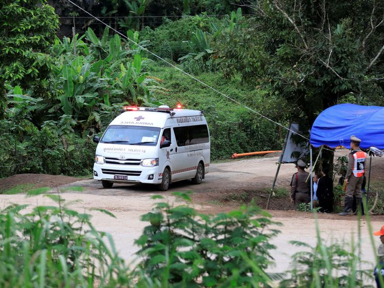 First images emerge of boys rescued from Thailand cave