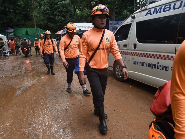 Officials say it could take up to four days to rescue the whole group