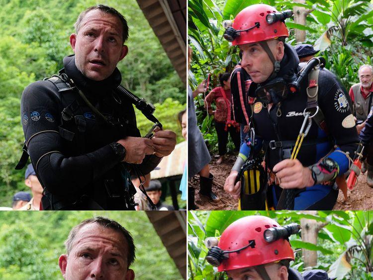 British cave-divers John Volanthen (left) and Richard Stanton in Thailand