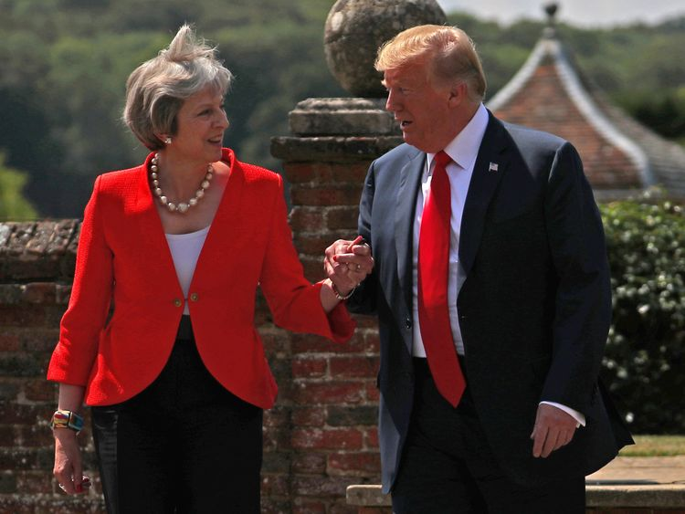 May says Trump told her to sue the European Union  over Brexit