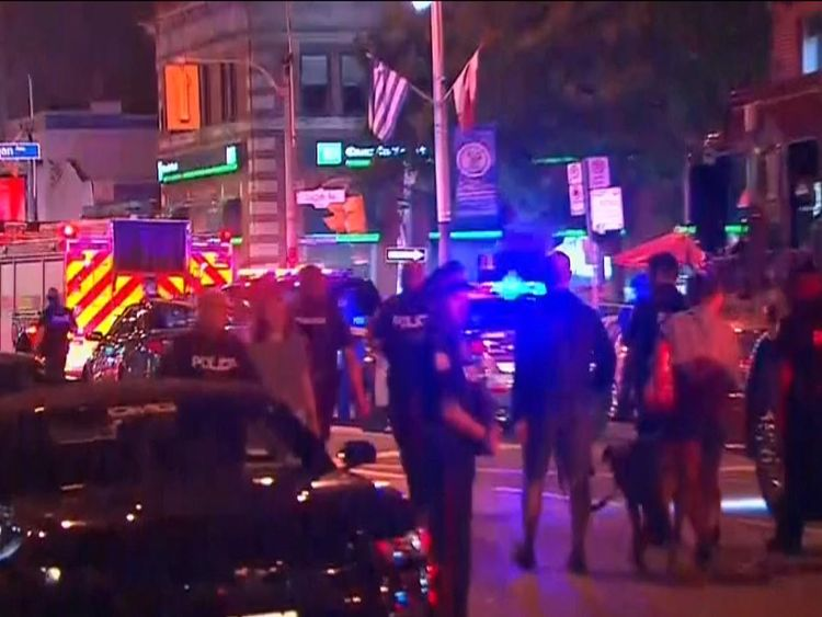 Scene of shooting in Toronto. Pic: CTV