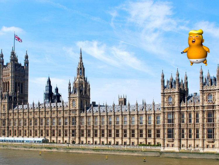 A giant Donald Trump balloon set to fly across Parliament