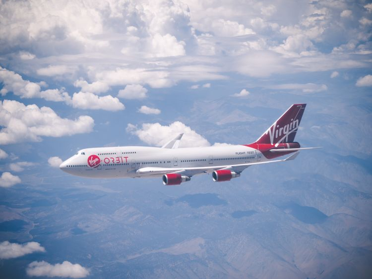 Virgin Orbit's aircraft 'Cosmic girl'
