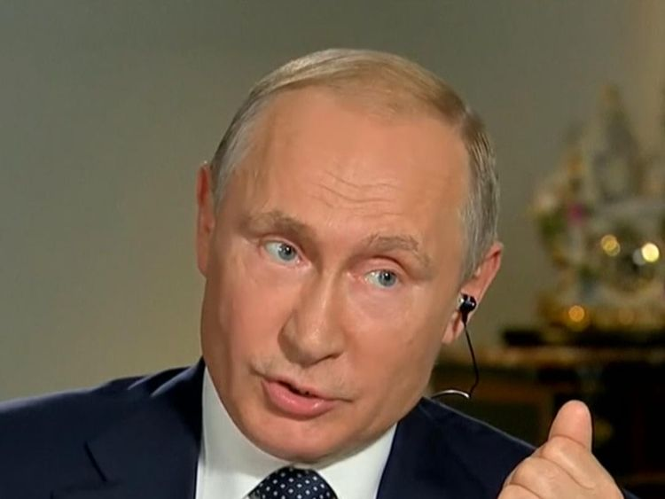 President Putin tells Fox News that Russia, as a state, has 'never interfered' with the internal affairs of the US