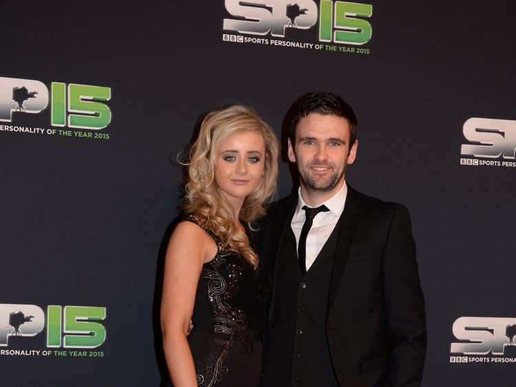 BELFAST, NORTHERN IRELAND - DECEMBER 20:  WIlliam Dunlop on the red carpet at Titanic Building before the BBC Sports Personality of the Year award at Odyssey Arena on December 20, 2015 in Belfast, Northern Ireland.  (Photo by Carrie Davenport/Getty Images)