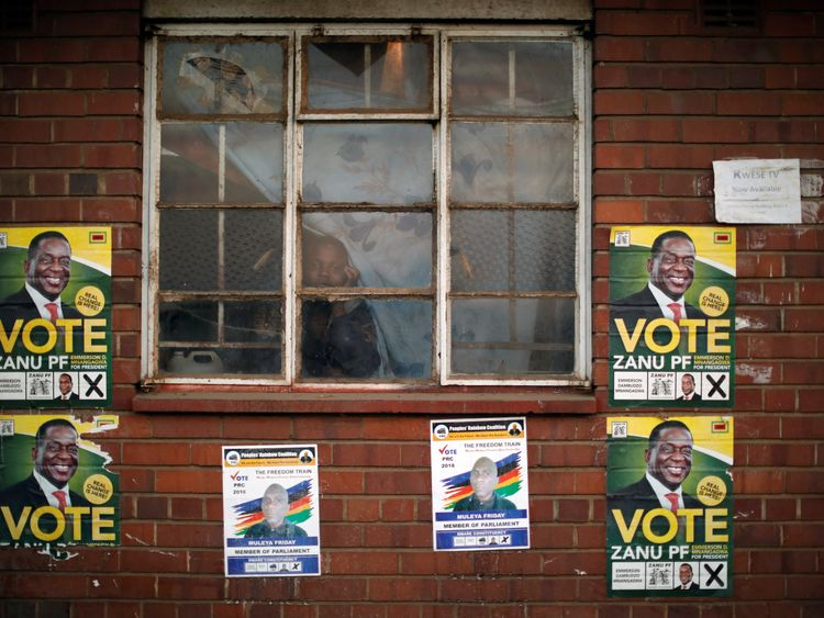 Mr Mnangagwa is hoping for a mandate to continue as president