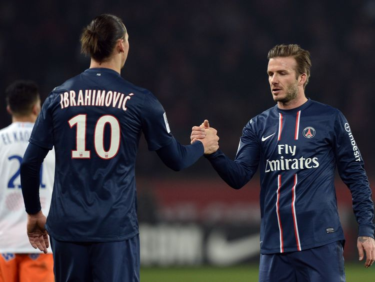 Zlatan Ibrahimovic and David Beckham