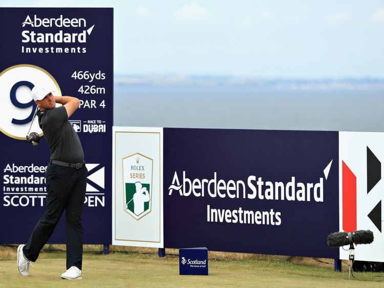during day one of the Aberdeen Standard Investments Scottish Open at Gullane Golf Course on July 12, 2018 in Gullane, Scotland.