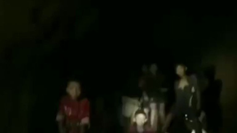 The moment rescuers found the 12 children and their coach in a Thai cave after being missing for 10 days.