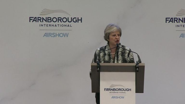 Theresa May speech at Farnborough International Airshow