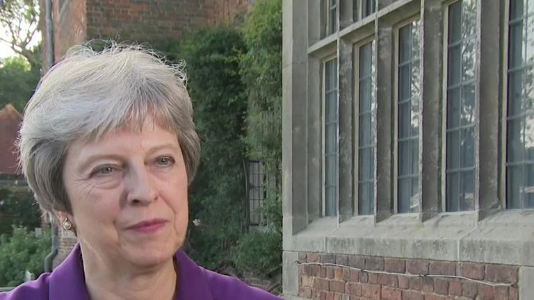 Theresa May says deal struck with cabinet at Chequers gives the UK a 'positive future' in EU