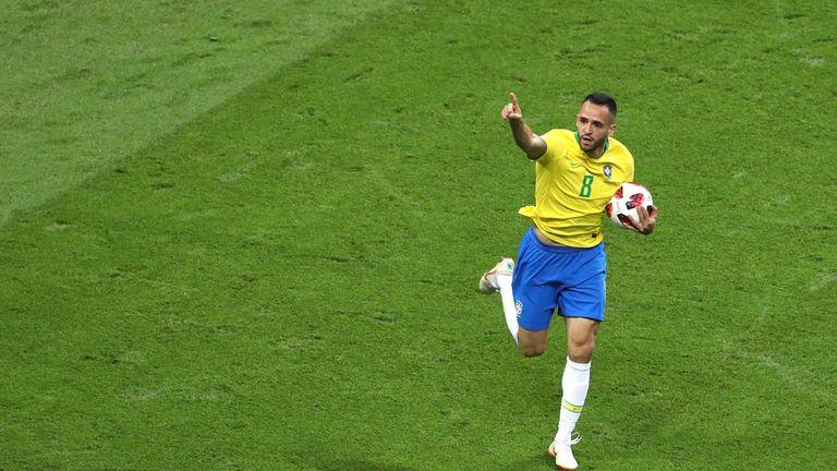 Renato Augusto pulls one back for Brazil