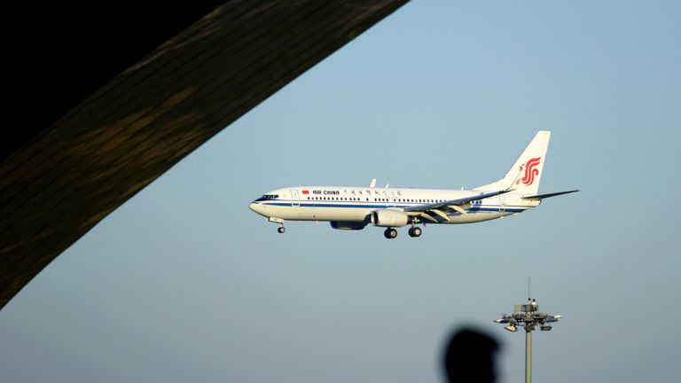 The Air China flight was forced to make an emergency descent