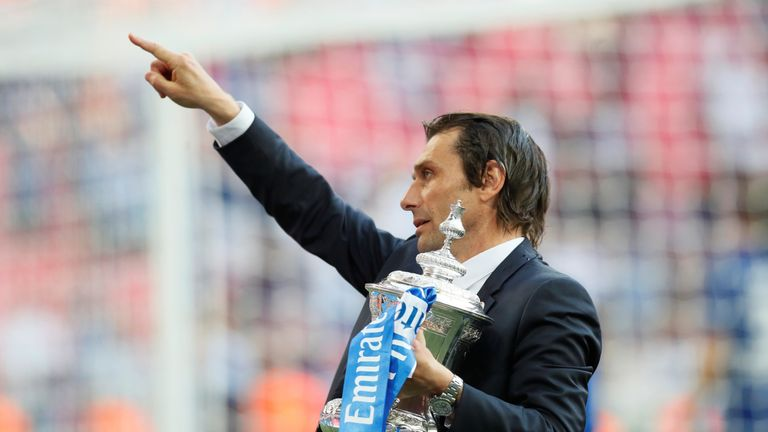 Antonio Conte after winning the FA Cup in May