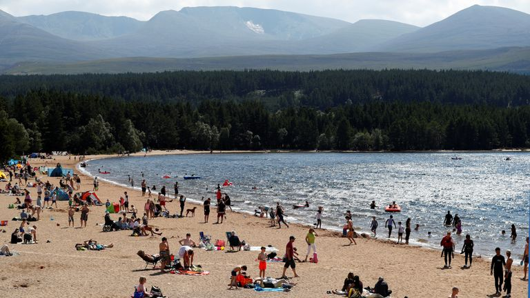 It was a beautiful day at Loch Morlich near Aviemore