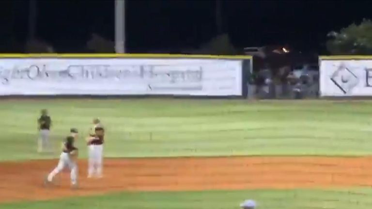 Baseball coach ejected following animated protest