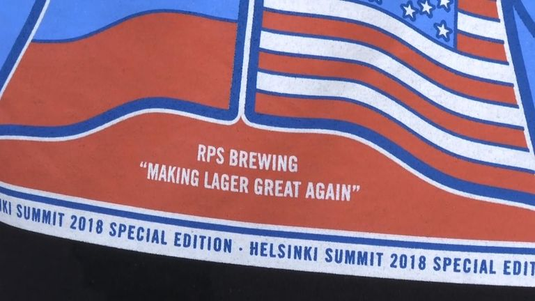 They've also used the tagline 'making lager great again'