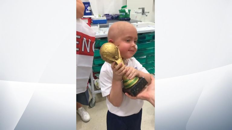 Ben had undergone six weeks of treatment for a brain tumour