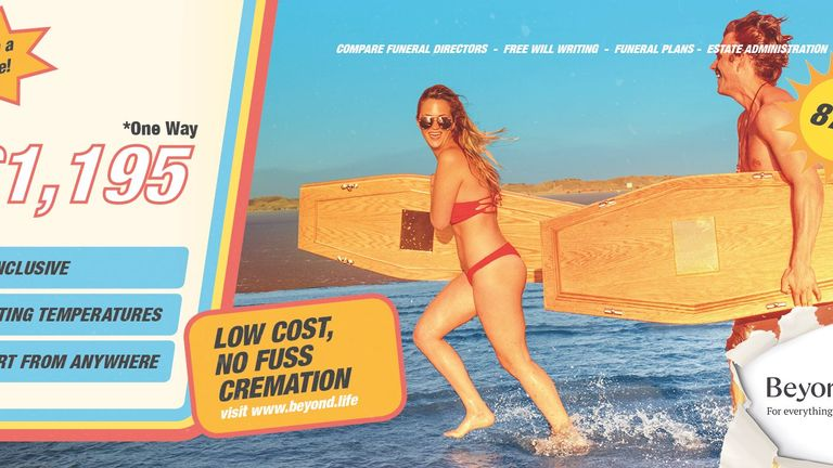 The holiday-style advert has been banned by Transport for London