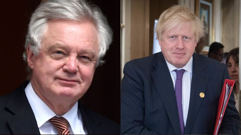 Boris Johnson (right) and David Davis has both resigned