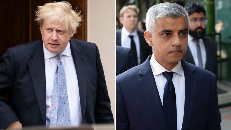 Boris Johnson and Sadiq Khan