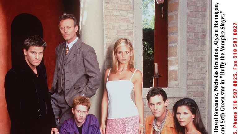 The original Buffy TV cast pictured in 1998