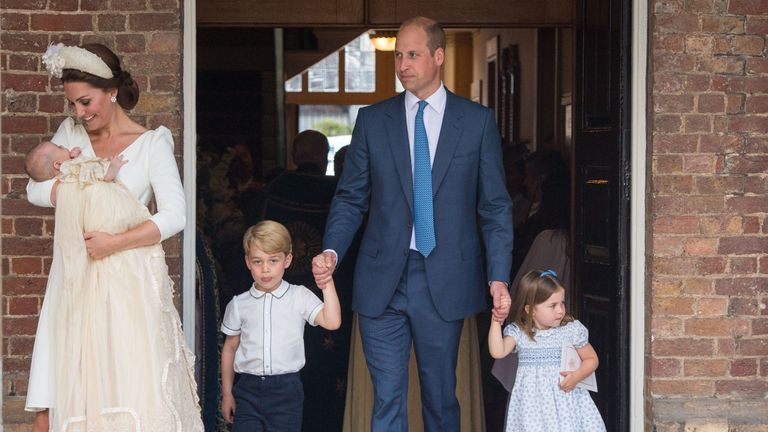 Prince Louiss Christening First Photos Of Cambridges Together Uk