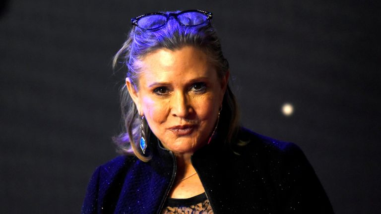 Carrie Fisher in 2015