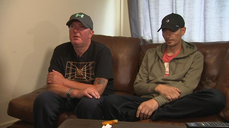Charlie Rowley, right, was joined by his brother Matthew for the Sky News interview