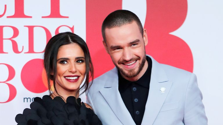 Cheryl Tweedy and Liam Payne arrive at the Brit Awards at the O2 Arena in London
