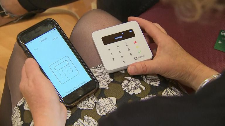 Hundreds of churches across the country are using contactless card machines
