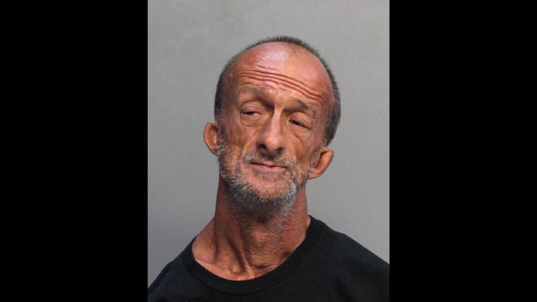 Jonathan Crenshaw has been charged with stabbing a tourist in Miami Beach. Pic: Miami-Dade Corrections