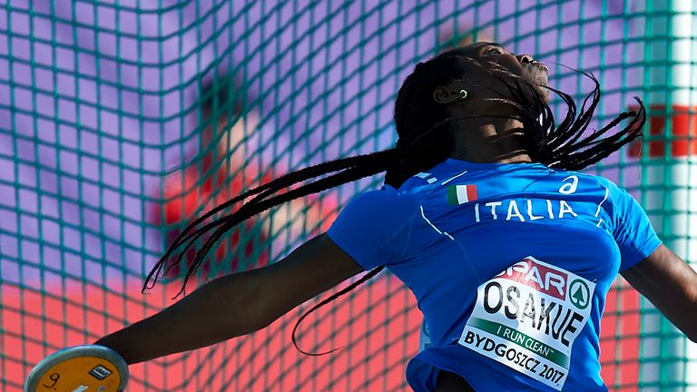 Osakue is hoping to be ready for the European Athletics Championships