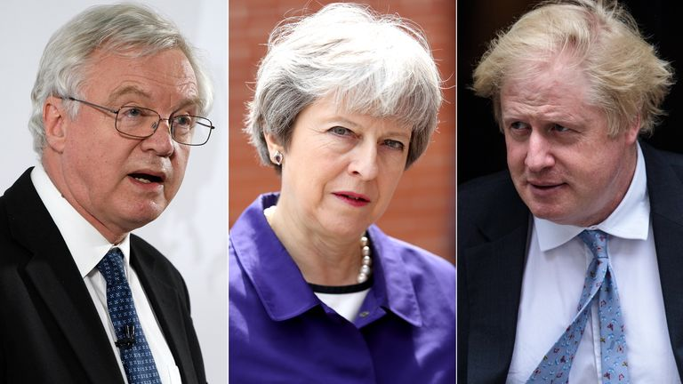 David Davis, Theresa May, Boris Johnson