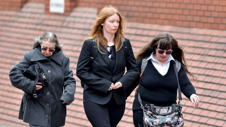 (L-R) Denise Cranston, Abigail Burling and Dawn Cranston, who have been convicted over the death of 18-year-old Jordan Burling in Leeds in June 2016.
