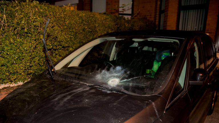 Gerry Adams said no one was hurt in the attack