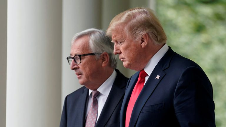 Donald Trump and Jean-Claude Juncker