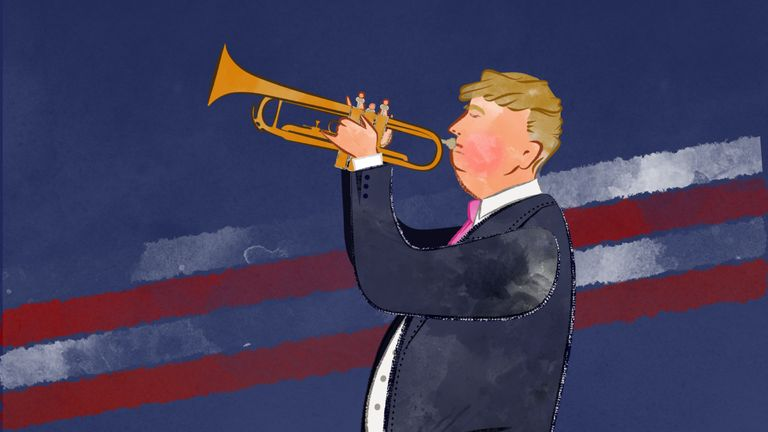 Donald Trump isn't afraid to blow his own trumpet.
