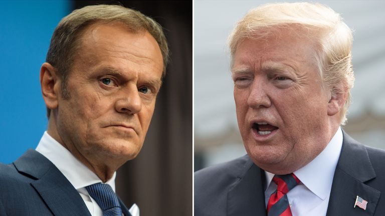 Donald Tusk and Donald Trump