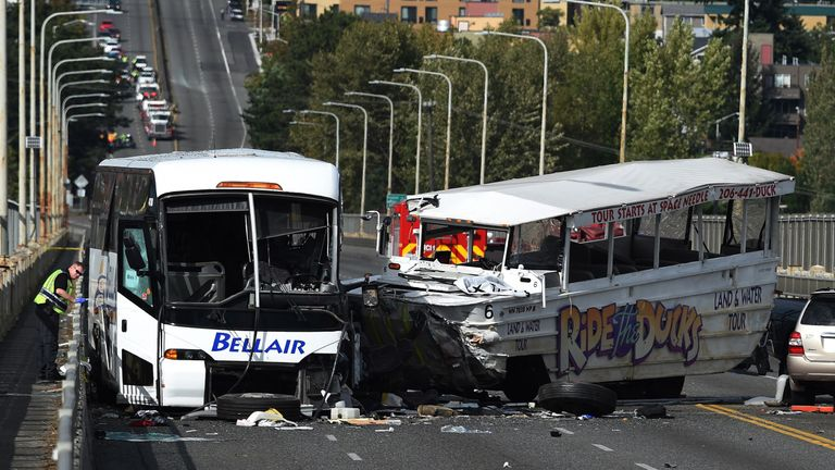 Five people died in a duck boat crash in Seattle in 2015