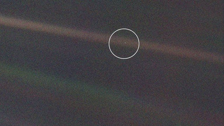 The Earth as a pale blue dot, from Neptune