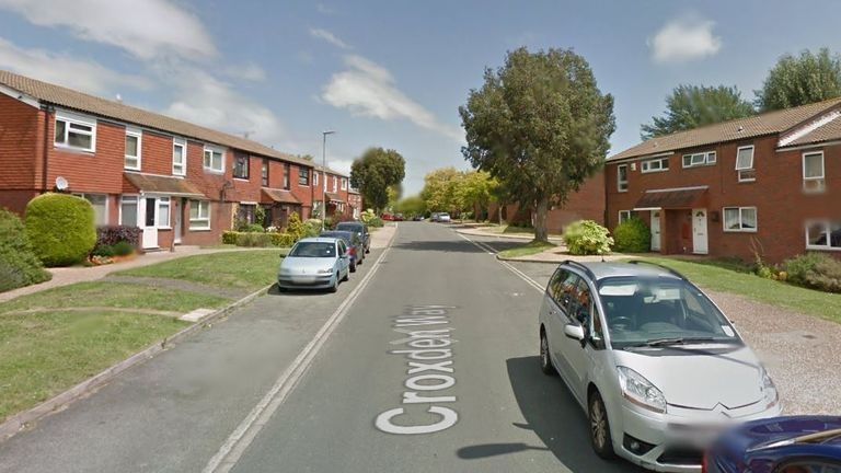 The fire was on Croxden Way. Pic: Google Street View