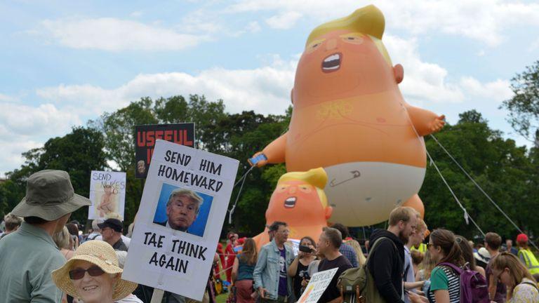 Trump protesters in Edinburgh