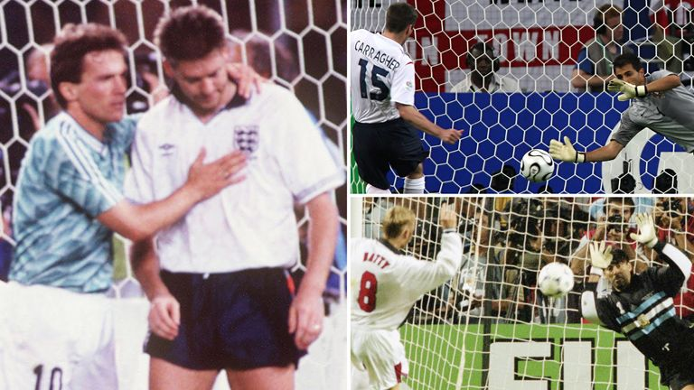 England's penalty fails