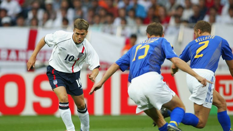 England drew with Sweden in the 2002 World Cup in Japan