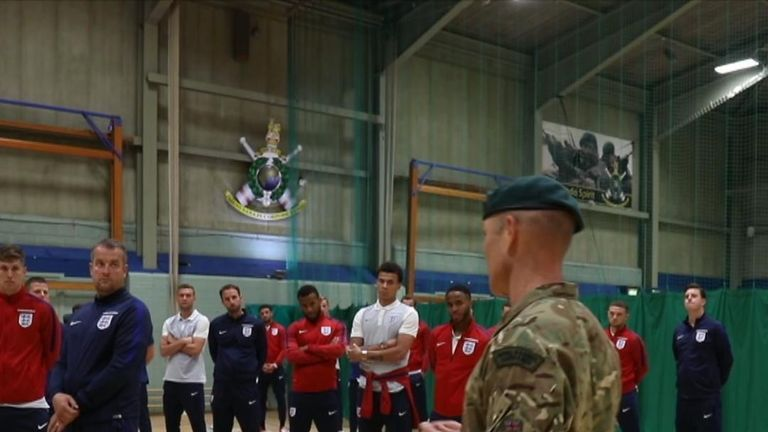 The squad listens intently to the instructor. Pic: Royal Navy