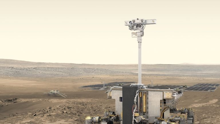 An artist's impression of the ExoMars rover. Pic: ESA